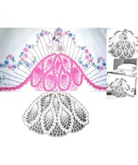 Southern Belle -Crinoline Lady pillowcase crochet & embroidery pattern A... - $5.00