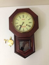 Drink Coca-Cola Windup Hanging Clock With Key Pendulum Regulator and Chime - $117.59