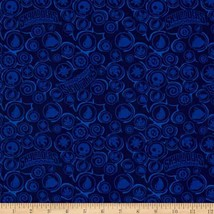 Skylander Icons Navy Blue Camelot 100% Cotton fabric by the yard - $14.69