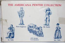 5 Pewter Figures AH30 MIB 1993 LIBERTY FALLS Locomotive Train Engineer T... - $15.00