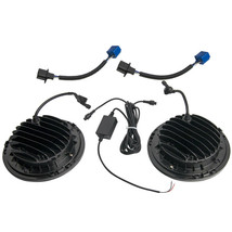 2x 7'' LED Headlights Halo RGB Lamp Combo Set For Jeep Wrangler JK 2007-... - $87.69