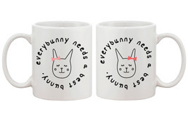 Cute Matching Coffee Mugs for Best Friends - Every Bunny Needs a Best Bunny - $24.99