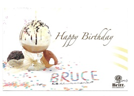 Birthday Advertising Postcard Cafe Britt Discount Coupon 2007 Personaliz... - $7.99