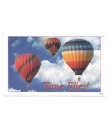 Dental Advertising Postcard Time Flies Hot Air Balloons Appointment card... - $4.99