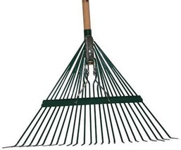 Heavy Duty Rake Spring Brace and Handle Trash Leaves Debris Upright 24 Inch - $61.93