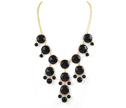 J Crew Inspired Black Statement Bubble Necklace - $14.00