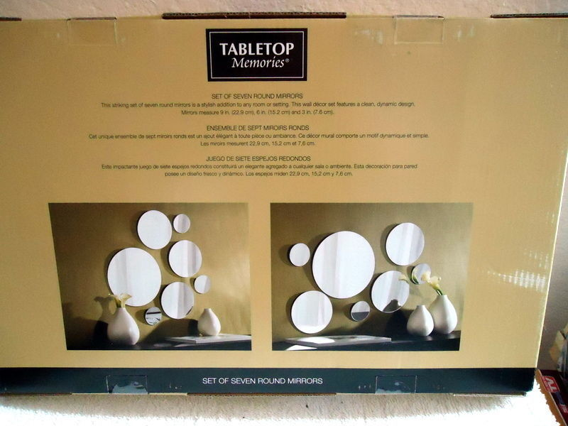 Tabletop Memories Set of Seven Round Mirrors
