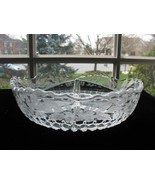 New Martinsville MEADOW WREATH Etch Radiance 3-Pt. Bowl - $17.00
