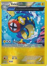 Eelektrik 64/160 Reverse Holo Rare Primal Clash Pokemon Card - $1.29