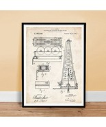 HOWARD HUGHES OIL DRILLING RIG INVENTION 18x24 PATENT ART POSTER PRINT 1... - $24.97