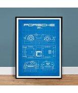 PORSCHE 550 SPYDER ART 18x24 POSTER PRINT BLUEPRINT VINTAGE GIFT DIAGRAM... - $29.97