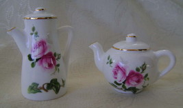 Jubilee Rose Pattern, Bone China, Salt & Pepper Shaker Set - $25.00