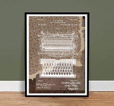 TYPEWRITER VINTAGE TYPE WRITER DESIGNER SERIES POSTER SHOLES US PATENT P... - $24.95