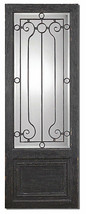 Heavily Distressed Teulada Iron Design Over Mirror By Uttermost - $597.00