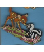 Bambi Flower Skunk butterfly April Showers  dated 1942 Authentic Disney pin - $25.15