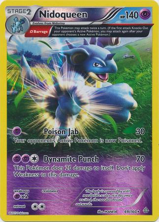 Nidoqueen 69/160 Reverse Holo Rare Primal Clash Pokemon Card