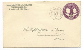 1894 Fort Recovery, OH Vintage Post Office Postal Cover - $7.99