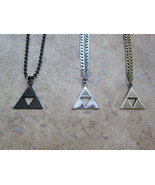 Heavy duty Legend of Zelda Triforce necklace in Silver, Black and Bronze. - $9.99