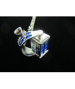 Dr. Who inspired spinning Police Call phone Box Booth TARDIS Silver tint... - $14.95