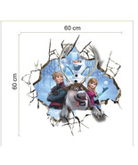 Frozen Elsa Anna Sven Kristoff Wall Decal Bedroom dorm movie theater roo... - $14.95