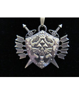 Legend of Zelda Bronze Shield of Arms Triforce Hylian Necklace - $7.99