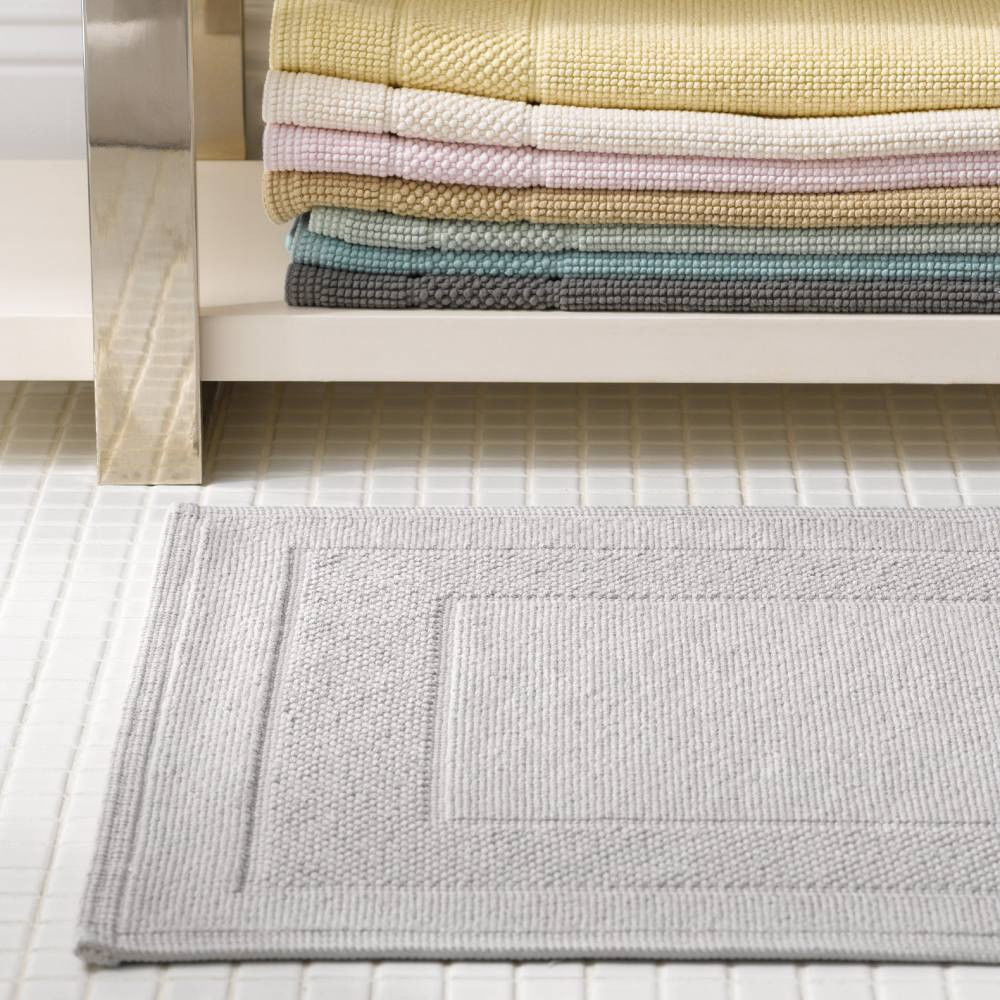 Bathroom Rugs 36 X 72: Matouk Cielos Linen Tan Low Profile Cotton Bath Rug, 24x36