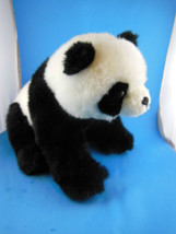 "Panda Bear Plush 12"" Sitting A&A  Excellent - $9.94"