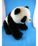 "Panda Bear Plush 12"" Sitting A&A  Excellent - $9.94"