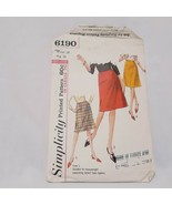 Misses A-Line Skirt 1965 Sewing Pattern Size 28 Waist Simplicity 6190  P... - $14.99
