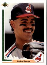 1991 Upper Deck Carlos Baerga #125 Cleveand Indians (MT) Baseball Card - $0.19