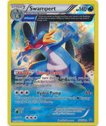 Swampert 36/160 Holo Rare Primal Clash Pokemon Card - $2.29