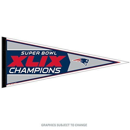 "2015 SUPER BOWL CHAMPION 49 XLIX NEW ENGLAND PATRIOTS FELT PENNANT 12""X30"""