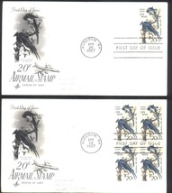 20 cents Airmail Audubon first day covers single & Plate Block - $4.99