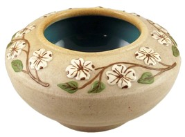 Pigeon Forge dogwood planter turquoise interior - $20.00
