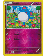 Marill 102/160 Reverse Holo Common Primal Clash Pokemon mCard - $1.09