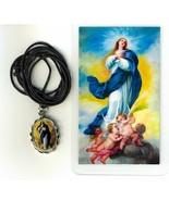 Corded Necklace with Medal, Nuestra Sra. de la Immaculada Concepcion - L... - $6.99