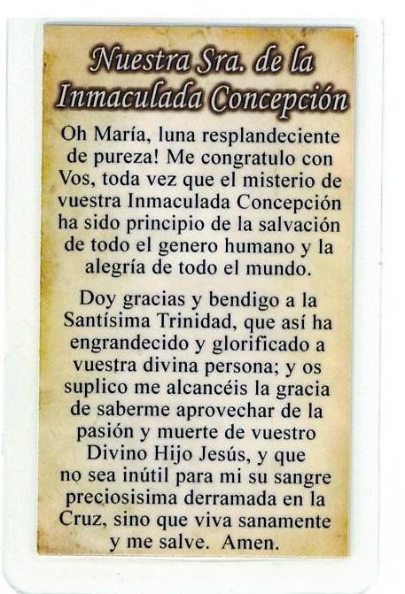Corded Necklace with Medal, Nuestra Sra. de la Immaculada Concepcion - L161.0126