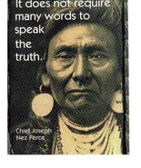 Chief Joseph Require Many Word Speak The Truth 11X14 Sepia Native Americ... - $9.95