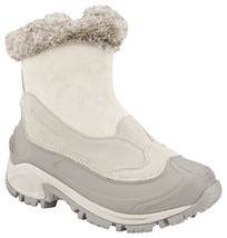 Columbia Womans Whitefield Zip Omni-Tech Waterproof Insulated White Boots Sz 6.5 - $91.07