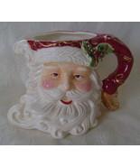 Christmas Dreams Santa, Stoneware, Pitcher  - $30.00