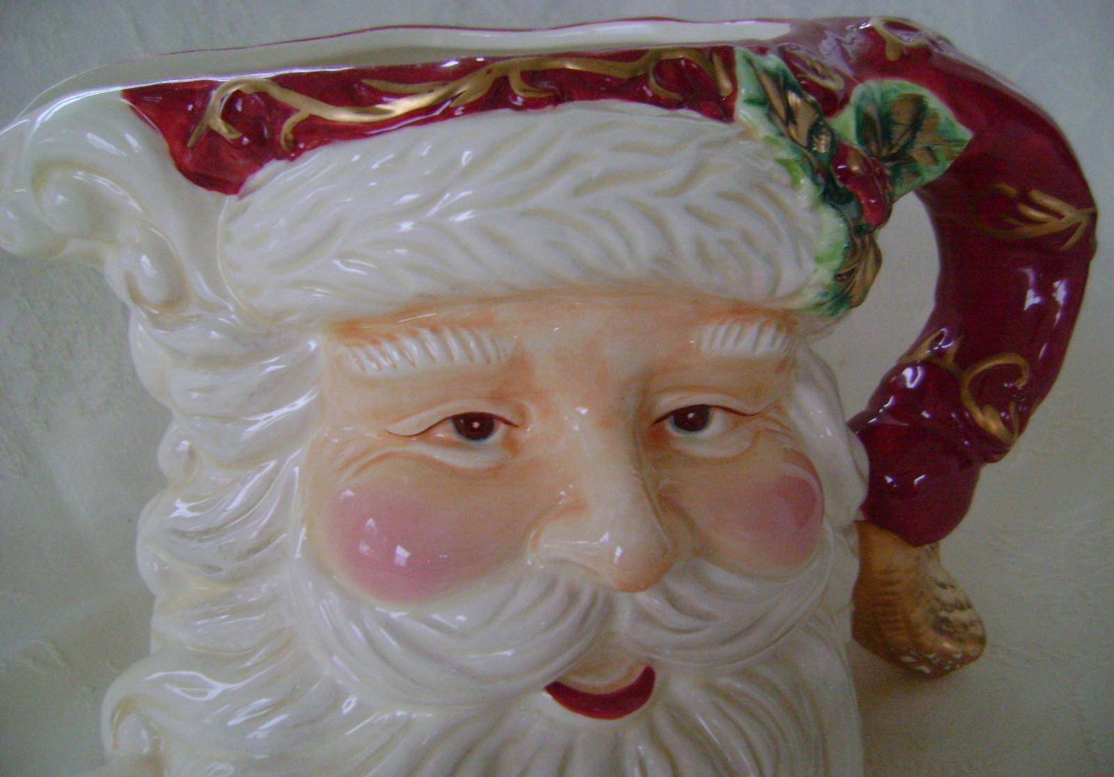 Christmas Dreams Santa, Stoneware, Pitcher