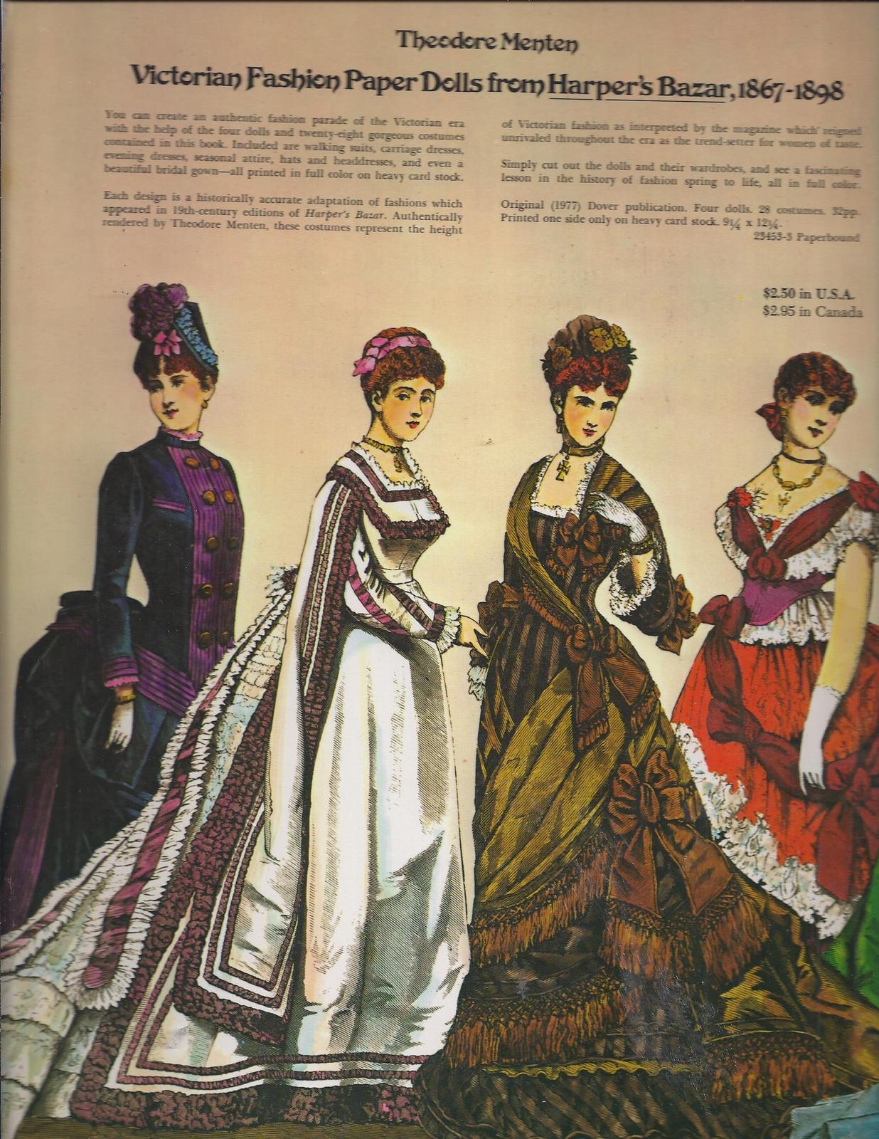 Victorian fashion paper dolls 5