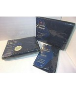 Navy Blue 4 Pc TWIN Sheet SetSEALED CANNON Classic Percale NEW Sure Fit... - $45.49