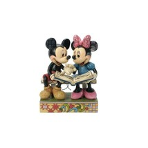 "6.5"" ""Sharing Memories"" Mickey & Minnie Mouse - Jim Shore Disney Traditions"