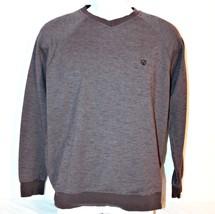 Vans Mens Pullover Sweater Sz S  Gray Long Sleeve V-neck Top Contrast Tr... - $18.88