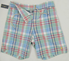 NEW! Polo Ralph Lauren Swim Shorts (Bathing Suit)!  S  *Plaid*  *Drawstring* - $44.99