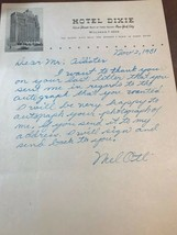 "HANDWRITTEN SIGNED LETTER BY MEL OTT DATED NOV. 2, 1951  6""x 9"" - $1,171.10"
