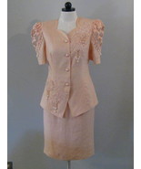 Belldini Ladies Dress Suit With Faux Pearls Size 10 - $48.00