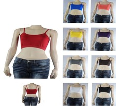 ONE SIZE Strap BRA Top Stretchy Sports layering Casual Basic Tank Top Ho... - $3.99