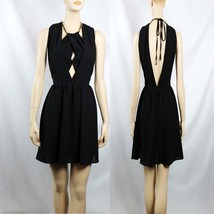 Drapted Halter Layering  Pleated w/ Gold  Necklace  Zippered Back Club D... - $39.99